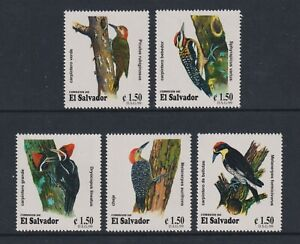 El Salvador - 1999, Woodpeckers, Birds set - MNH - SG 2497/501
