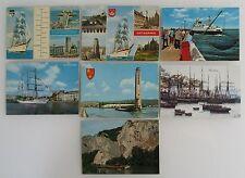 7x Schiff Schiffe Postkarten Belgien Belgium Ship Lot frankiert ab/nach 1970