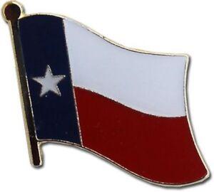 Wholesale Pack of 12 State of Texas Flag Bike Hat Cap lapel Pin