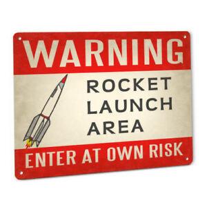 Super Rocket Launch Pad SIGN for Fans of Estes Flying Rocketry Model Kit Toy Set