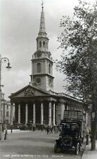 London St Martins in the Fields Motor Car unused sepia RP old pc Judges L 438
