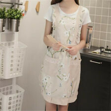 Household Cleaning Aprons Apron Lace Flower Printed Thickened Cooking Apron ON3