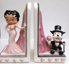 Betty Boop And Bimbo Bed Of Roses Bookends, Vandor Company, Item #10322