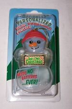 BABY'S FIRST CHRISTMAS Solar Powered Snowman Ornament/Gift Tag NEW