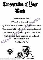 Consecration of Magick Wand Wicca Book of Shadows Pagan Occult Spell Ritual