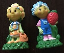Vintage Fifi and the Flowertots Doll figures x2 Cake Toppers pre school set VGC