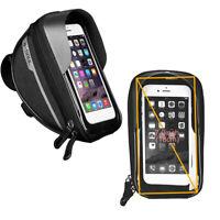 Bicycle Front Frame Touch Screen Waterproof Phone Bag MTB Bike Top Tube Pannier