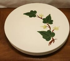"4 BLUE RIDGE POTTERY Green and Brown Baltic Ivy  9.5"" Dinner Plates"
