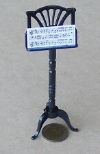 1:12th Scale Black Ornate Music Stand Dolls House Instrument Accessory 566