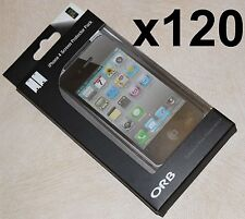 120 x iPhone 4 Screen Protector Packs, screen protectors & soft cleaning cloths
