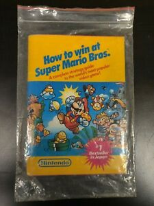 1987 HOW TO WIN AT SUPER MARIO BROS. Nintendo Strategy Guide Book Manual VG
