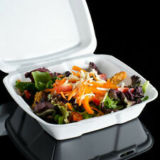 """9""""x9"""" Foam Hinged Lid Sandwich Containers 9"""" x 9"""" Take-out Food Container 50 Pcs"""