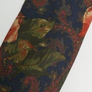 Blue Floral Paisley Silk Tie