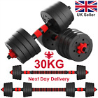 30KG DUMBELLS PAIR OF GYM WEIGHTS BARBELL DUMBBELL BODY BUILDING WEIGHT SET UK