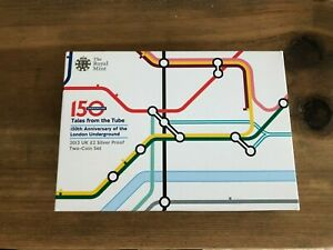 2013 £2 Silver Proof two pound coin set - Tales from the tube Boxed COA