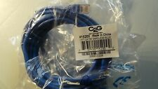 NEW C2G 15200 10 ft Cat5e Snagless UTP Unshielded Network Patch Cable Blue 10ft