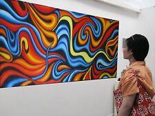 Art Oil Painting Abstract 200cm X90cm COA BY Jane  Original Australia