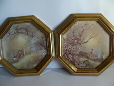 Set of Two Home Interiors Homco Octagon Pictures 9.75� Octagon Pair
