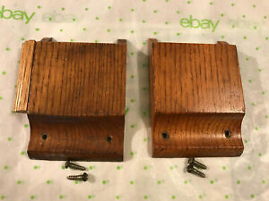 Two Small Oak Church Pew Note / Envelope & Pencil Holder w/Screws, Free S/H