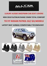 Sheepskin Car Seat Covers to fit Nissan Patrol GU/GQ Models Platinum 6 Star 33mm
