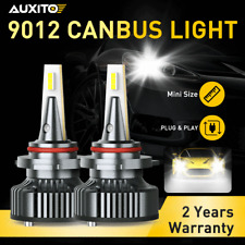 2x LED Headlight Bulbs 9012/hir2 All-in-one Conversion Kit High/Low Beam 6000K