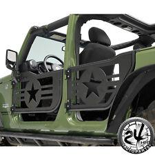 07-18 Jeep Wrangler JK 4Dr 4 Tube Doors Military Star Body Armor Set With Mirror