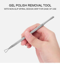 Triangle Stainless Steel Nail Gel Polish Remover Rod Cuticle Pusher Nails Tool