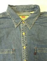 LEVI'S DENIM SHIRT MEN'S REGULAR FIT BUTTONS XL MID BLUE STRAUSS LSHT687