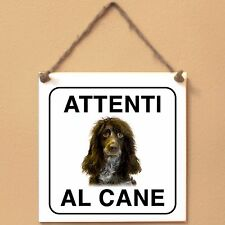 Epagneul de Pont-Audemer 1 Attenti al cane Targa cane cartello ceramic tiles