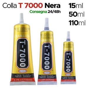 COLLA ADESIVA T-7000 NERA MULTIUSO PER RIPARAZIONE CELLULARI DISPLAY SMARTPHONE