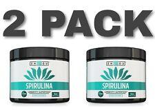 Zhou Nutrition Non-GMO Spirulina Powder - Sustainably Grown in California - X 2