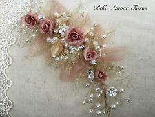 Bridal hair vine,Vintage style,Gold floral baroque,headpiece,rose gold coloured,
