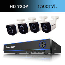 HD 720P 4CH HMDI AHD DVR 1500TVL IR-CUT Outdoor CCTV Home Security Camera System