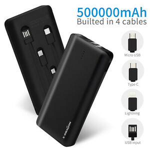 Portable Power Bank 500000 mAh 4USB External Battery Charger for iPhone Samsung