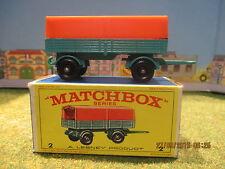 Véhicule voiture camion remorque Mercedes Matchbox Réf 2 neuf boite Dinky..