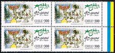CHILE 2001 STAMP # 2072 MNH BLOCK OF FOUR FINE ARTS MATTA PAINTER