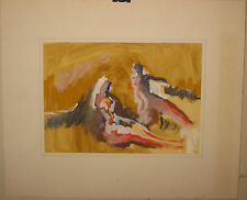 Vintage JOHN THOMPSON 'Pastoral Sketch No 5' ABSTRACT EXPRESSIONIST Painting