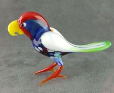 Murano Art Glass Parrot Figurine High Quality