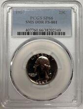 1967 SMS Washington Quarter PCGS SP66 DDR FS-801 Variety Cherrypicker Coin