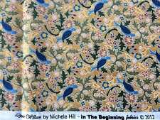 1 yd Dear William by Michele Hill In The Beginning Fabric Blue Bird Floral