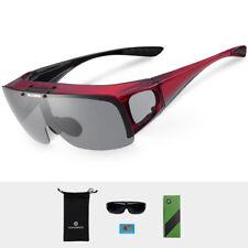 f5f23e47d4 Gafas de sol de polarización ROCKBROS Ciclismo Anti-UV Rojo Unisex Gafas de  Deportes al Aire Libre