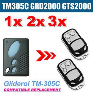 1/2/3x Gliderol TM305C GRD2000 GTS2000 Garage Door RollerRemote Replacement