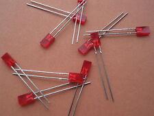 RECTANGULAR RED LED 7mm     QTY=20