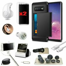 Case+Wireless Headset+Monopod+Fish Eye Accessory Bundle For Samsung Galaxy