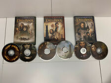Lot of 3 The Lord of the Rings Trilogy Complete Set Dvd Movies 6 Discs
