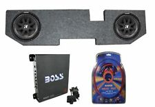 "2) KICKER 43C104 10"" 600W Subwoofers+For Dodge Ram Quad 02-Newer Box+Amp+Wiring"