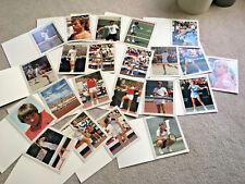 22- 8x10 COLOR PHOTOS TENNIS STARS 1980s McEnroe Lloyd Conners Borg PRESS