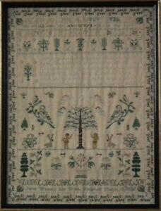 Antique Sampler, 1825 by Jane Waters