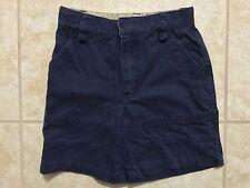 ☀� Boys Navy Blue Uniform Shorts Adjustable Waist Flat Front School Size 7