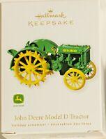 "Hallmark Keepsake 2010 ""JOHN DEERE MODEL D TRACTOR"" Ornament ~ NEW IN BOX"